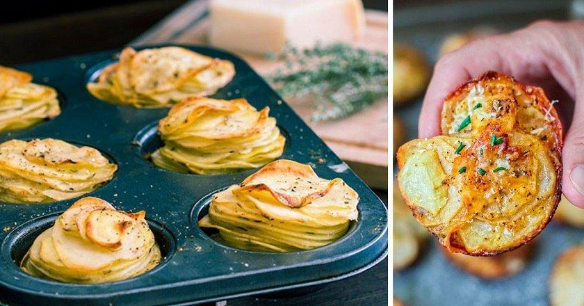 Картопля в формочках як приготувати, покрокові рецепти від «Це Смак»