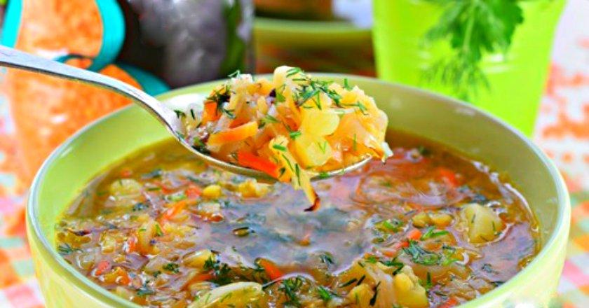 Сочевичний суп з квашеною капустою подивитися рецепт