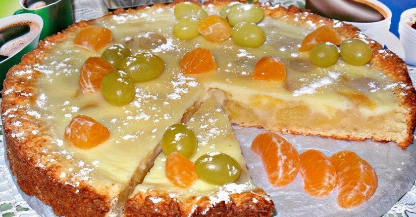 Пиріг з фруктами подивитися рецепт