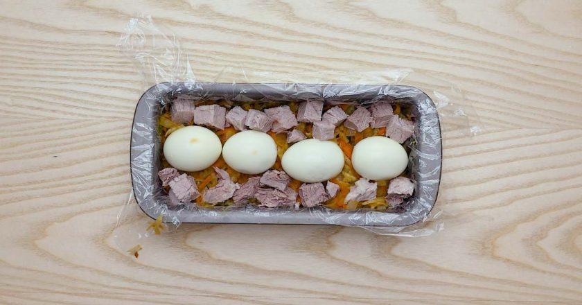 Заливний террін з яйцями подивитися рецепт