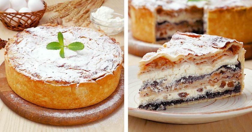 Балканський пиріг з сиром і яблуками подивитися рецепт
