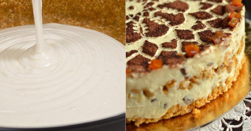 Торт з сиру без випічки подивитися рецепт