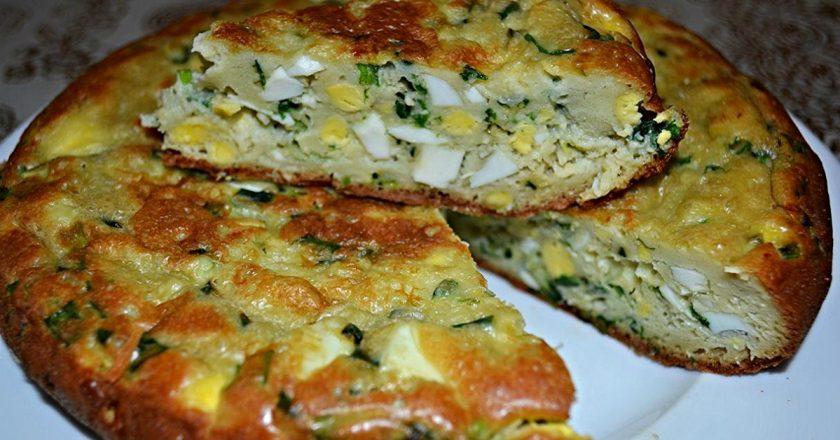 Пиріг з яйцями і цибулею в мультиварці як приготувати, покрокові рецепти від «Це Смак»