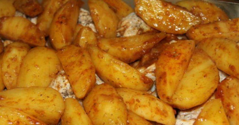 Картопля в соєвому соусі подивитися рецепт