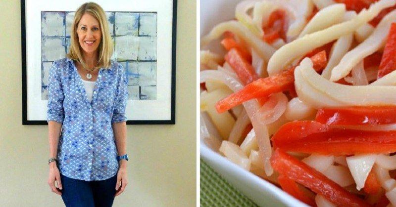 Дієтичний салат з кальмарами подивитися рецепт