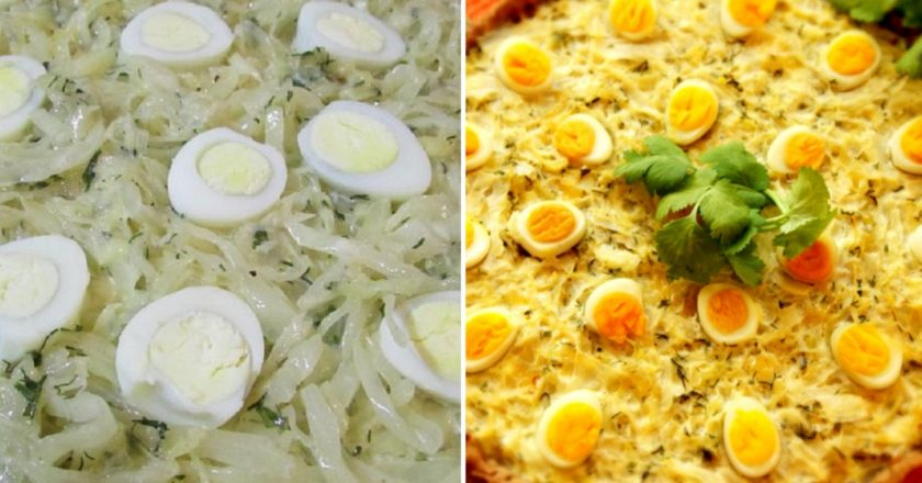 Пиріг з капустою і яйцями подивитися рецепт
