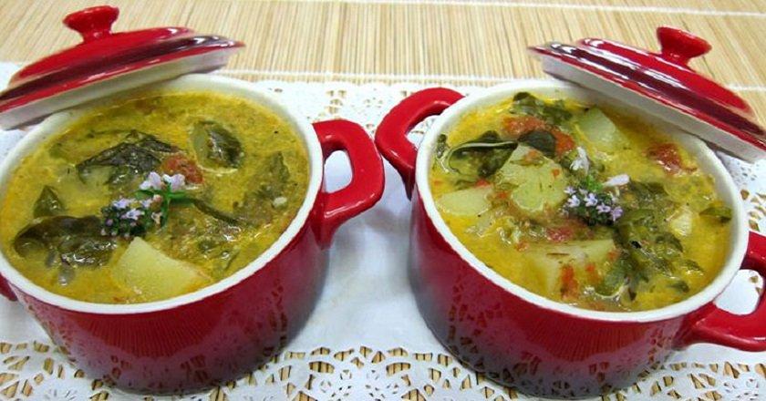 Суп зі щавлем подивитися рецепт