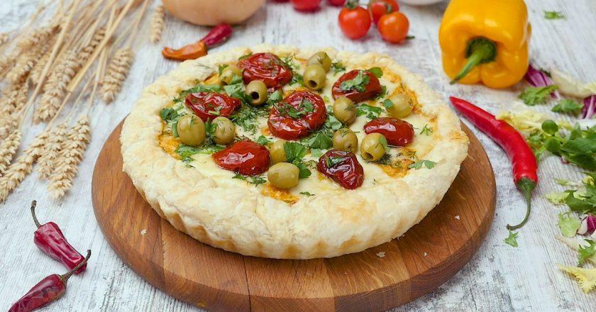 Листковий пиріг з гарбузом і сиром подивитися рецепт