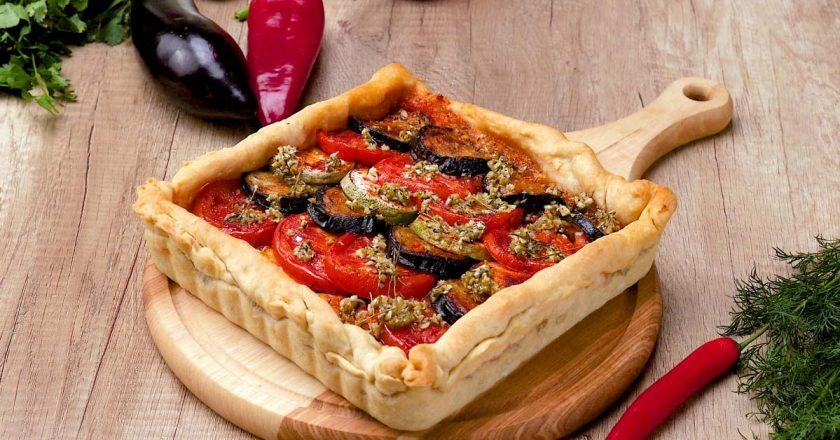 Овочевий пиріг подивитися рецепт