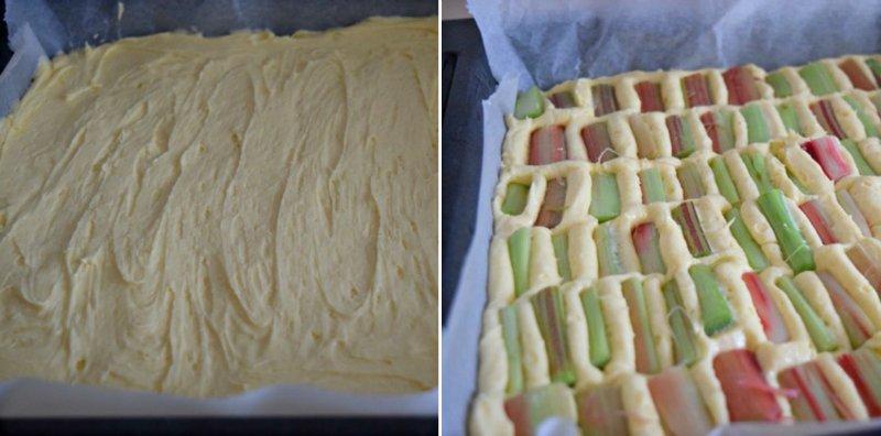 Простий пиріг з ревенем