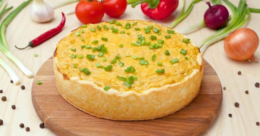 Пиріг з рибою і рисом подивитися рецепт