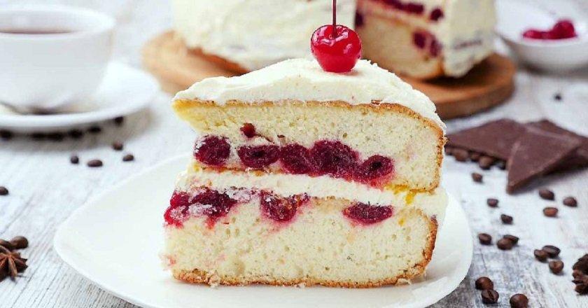 Торт «Зимова вишня» подивитися рецепт