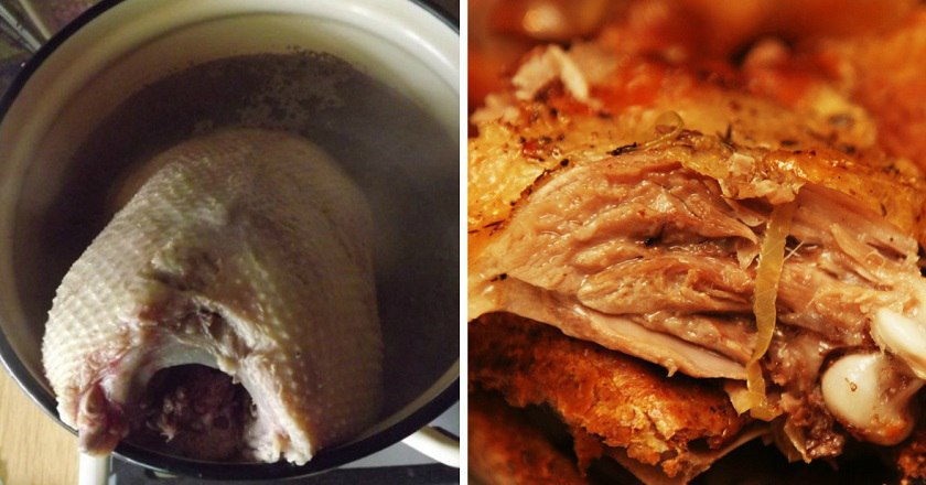 Соковитий гусак в духовці подивитися рецепт