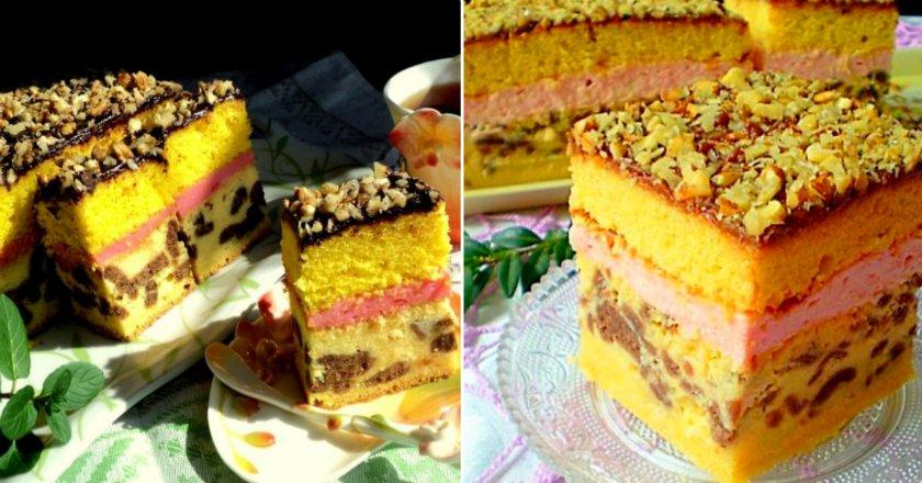 Багатошаровий пиріг з сиром подивитися рецепт