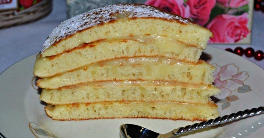 Торт «Пушинка» на сковороді подивитися рецепт