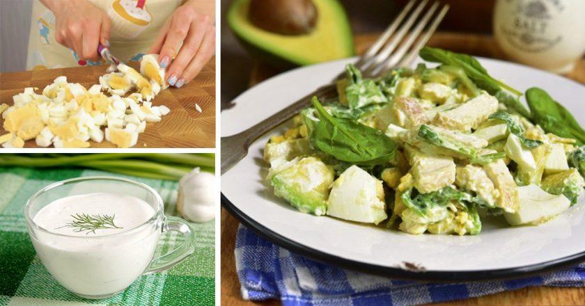 Салат з авокадо і яйцями подивитися рецепт