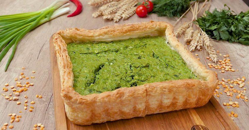 Тарт з зеленим горошком подивитися рецепт