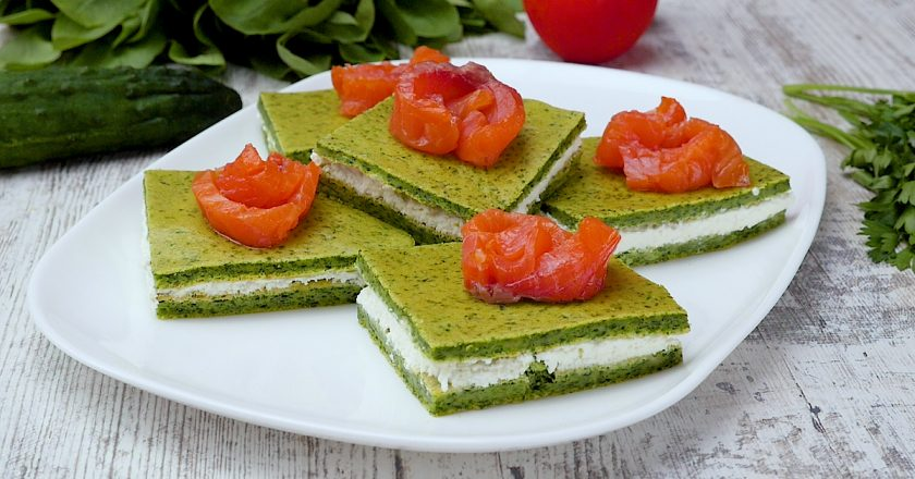Закусочні тістечка зі шпинатом подивитися рецепт