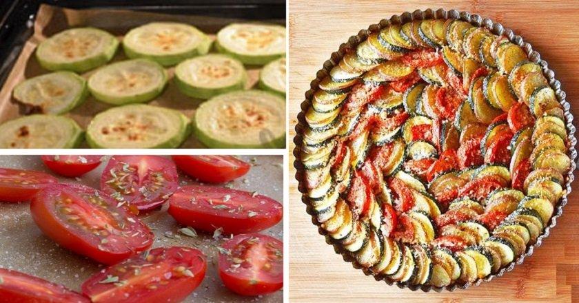 Гратен з кабачків і помідорів подивитися рецепт