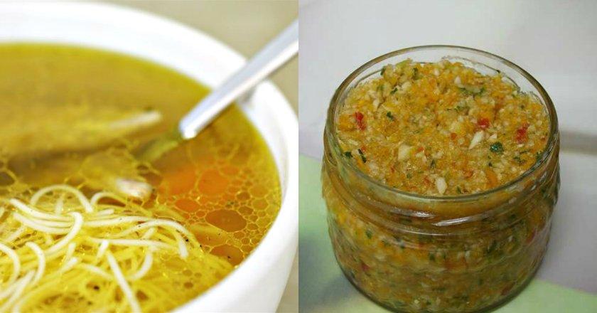 Домашня заготівля для супу подивитися рецепт