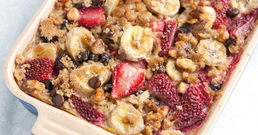 Вівсяний пиріг з ягодами подивитися рецепт