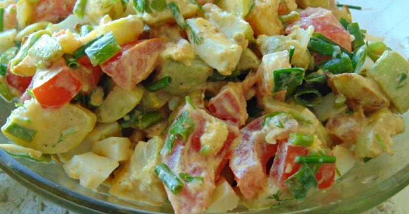 Салат зі смаженими кабачками подивитися рецепт