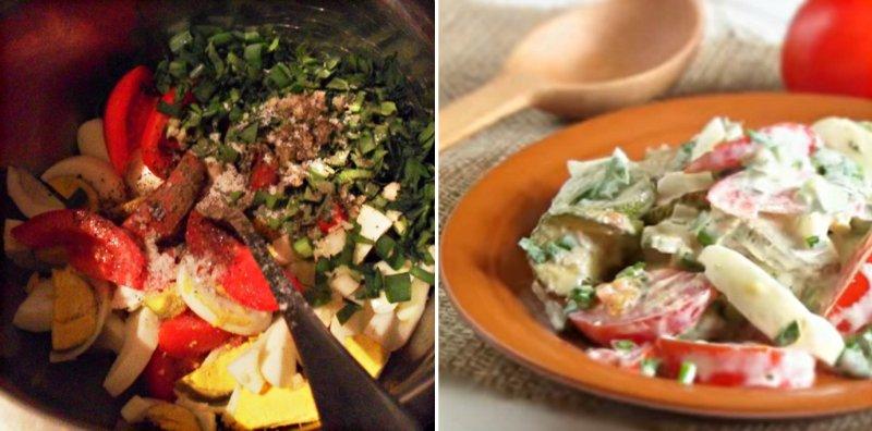 Салат зі смаженими кабачками