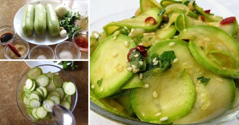 Кабачки в азіатському стилі подивитися рецепт