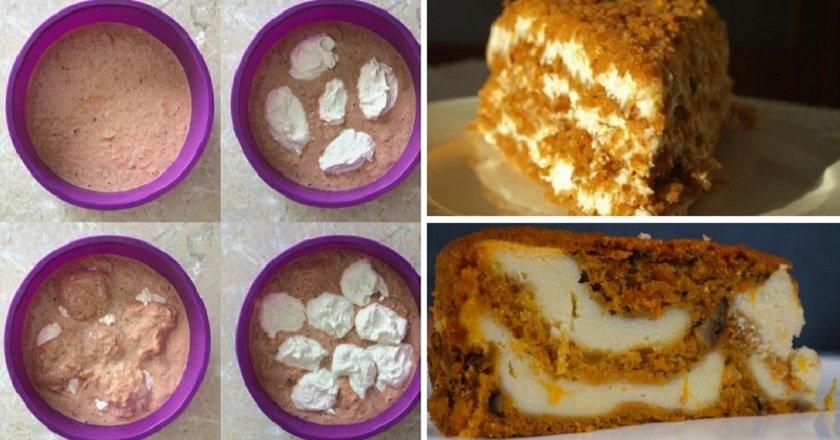 Морквяно-сирний пиріг подивитися рецепт