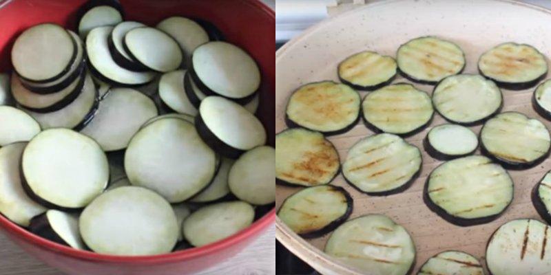 Баклажани з картоплею і фаршем