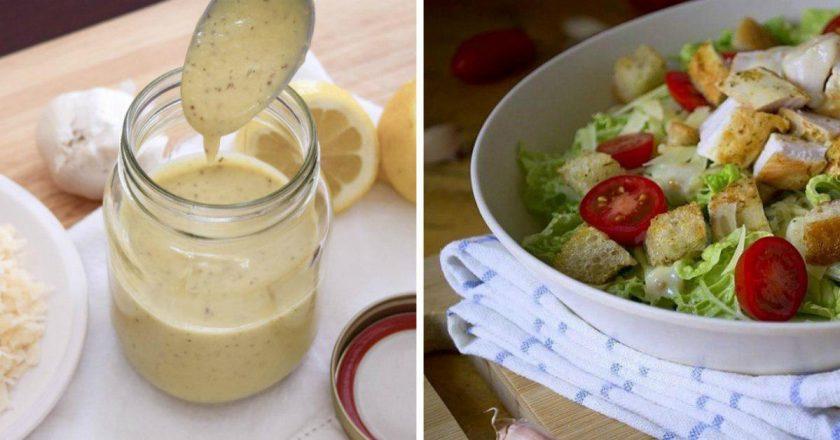 Соус для салату «Цезар» подивитися рецепт