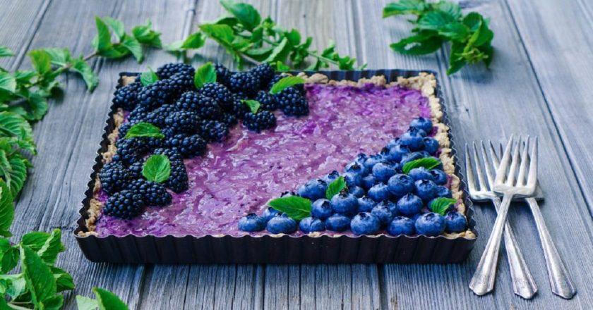 Чорничний тарт з м'ятою подивитися рецепт