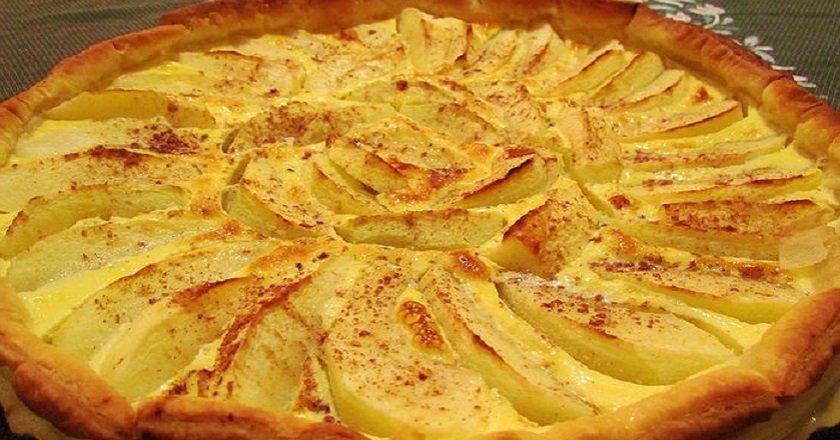 Пиріг з яблуками і корицею подивитися рецепт