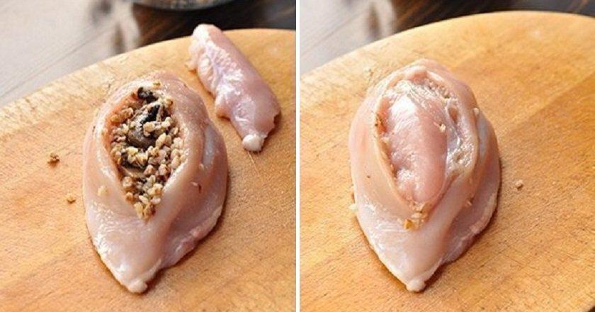 Курячі грудки з гречкою подивитися рецепт
