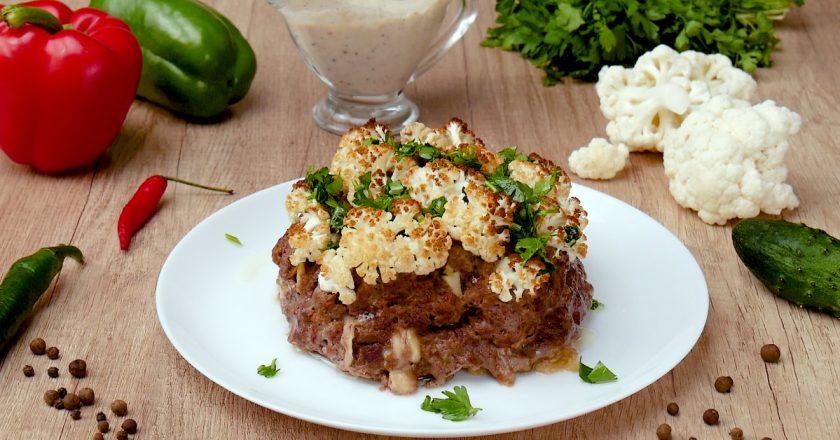 Цвітна капуста з м'ясом і соусом бешамель подивитися рецепт
