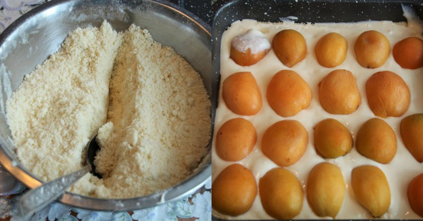Абрикосовий насипний пиріг подивитися рецепт