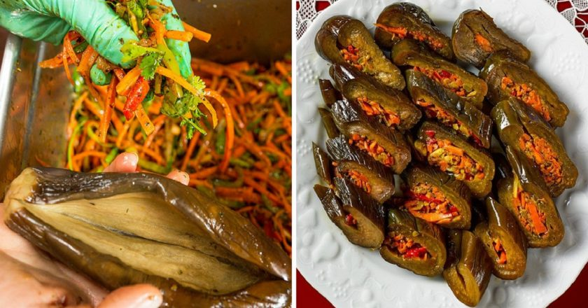 Мариновані баклажани з морквою подивитися рецепт
