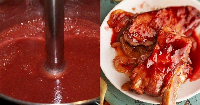 Полуничний соус до м'яса подивитися рецепт