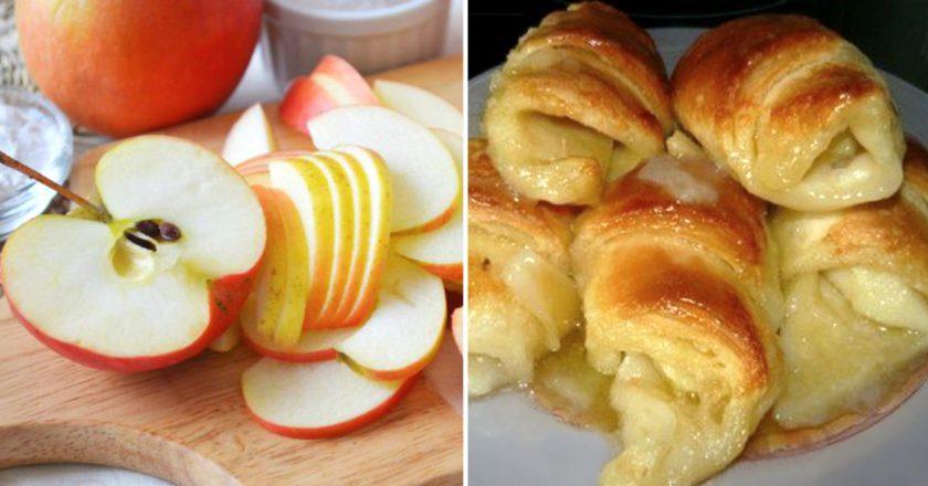 Слойки з яблуками подивитися рецепт