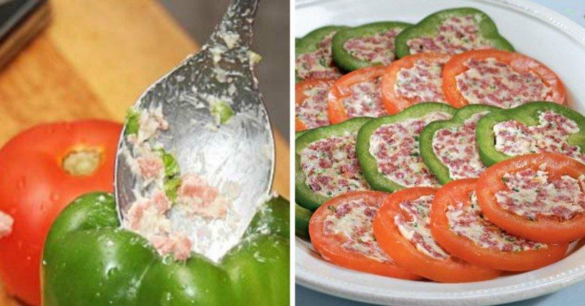 Фарширований перець і помідори подивитися рецепт
