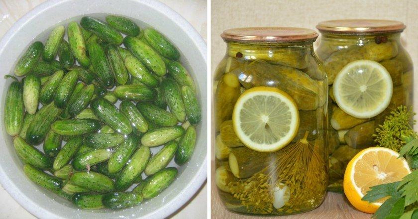 Огірки з лимоном подивитися рецепт