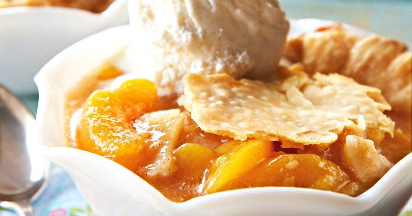 Персиковий коблер подивитися рецепт
