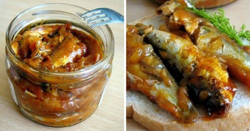 Кілька в томатному соусі подивитися рецепт