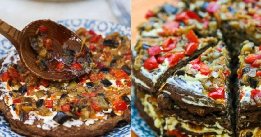 Печінковий торт з баклажанами як приготувати, покрокові рецепти від «Це Смак»