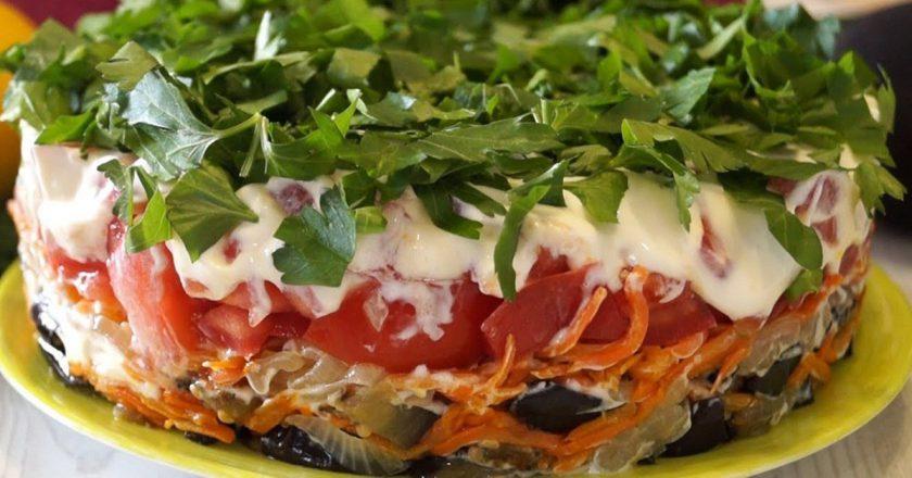 Салат зі смажених баклажанів подивитися рецепт