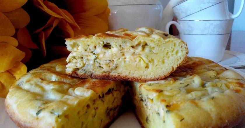 Пиріг з сиром і зеленню подивитися рецепт