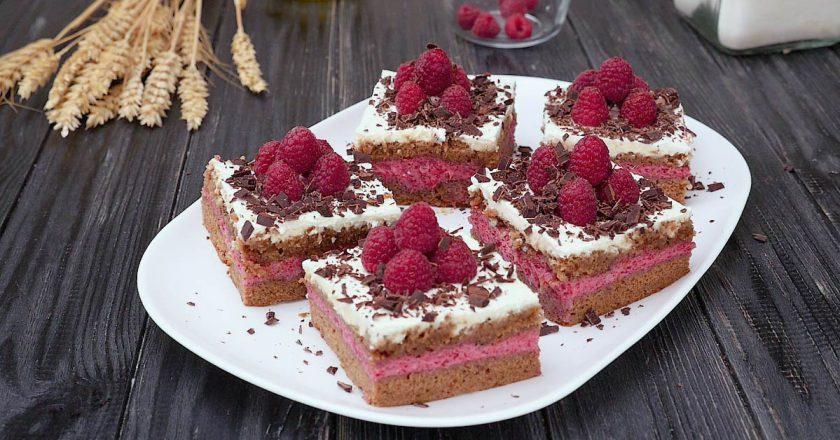 Малинові тістечка подивитися рецепт