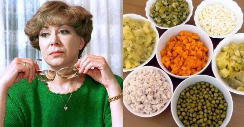 Салат «Олів'є» за рецептом Едіти П'єхи подивитися рецепт