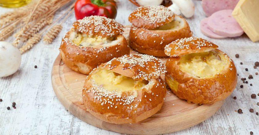 Міні-киши з булочок