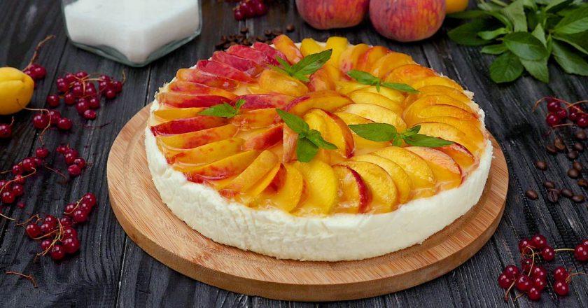 Як приготувати торт-суфле з персиками подивитися рецепт